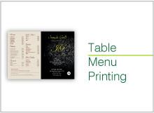 table menu
