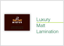 luxury matt lamination
