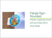 flange round