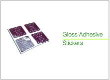 gloss adhesive stickers